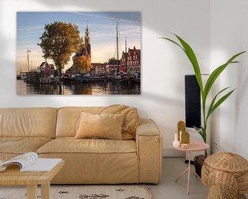 Stadsgezicht Hoorn (Kleur) van Rob Boon