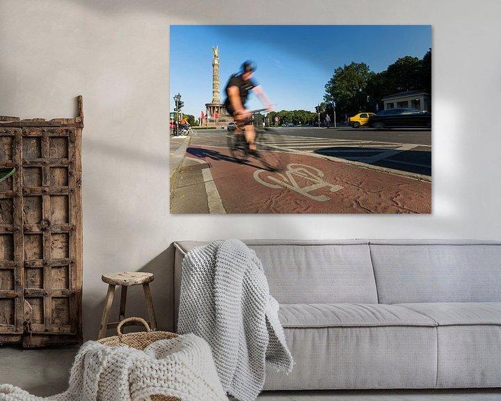 Beispiel: Schneller Radfahrer an der Berliner Siegessäule von Frank Herrmann