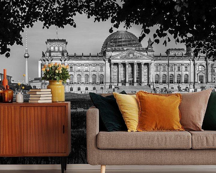 Impression: Le bâtiment du Reichstag à Berlin sur Frank Herrmann