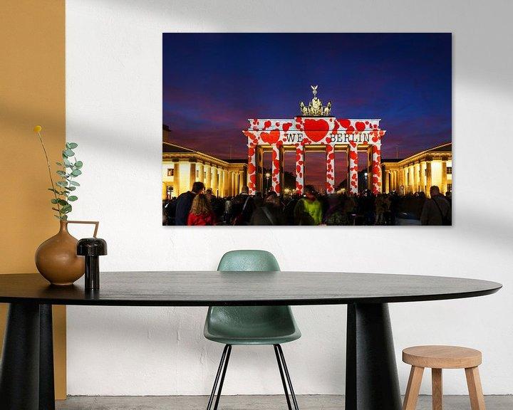 Sfeerimpressie: De Brandenburger Tor Berlin in een bijzonder licht van Frank Herrmann