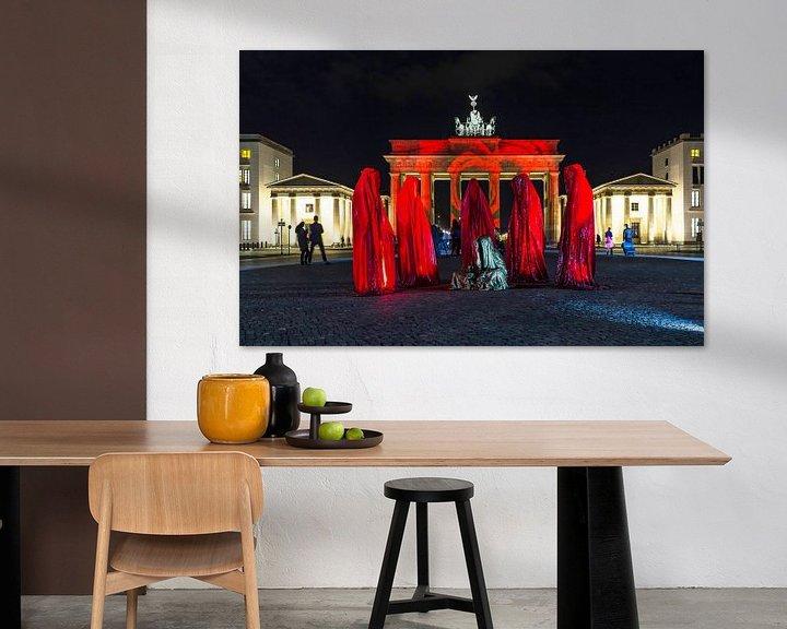 Sfeerimpressie: Brandenburger Tor Berlin in een bijzonder licht van Frank Herrmann