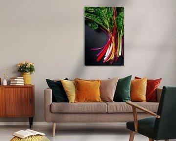 Stilleven met regenboog snijbiet l Food fotografie van Lizzy Komen