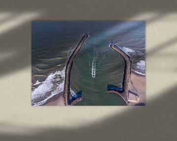 Scheveninger Hafen aus der Vogelperspektive von Sander van der Borch