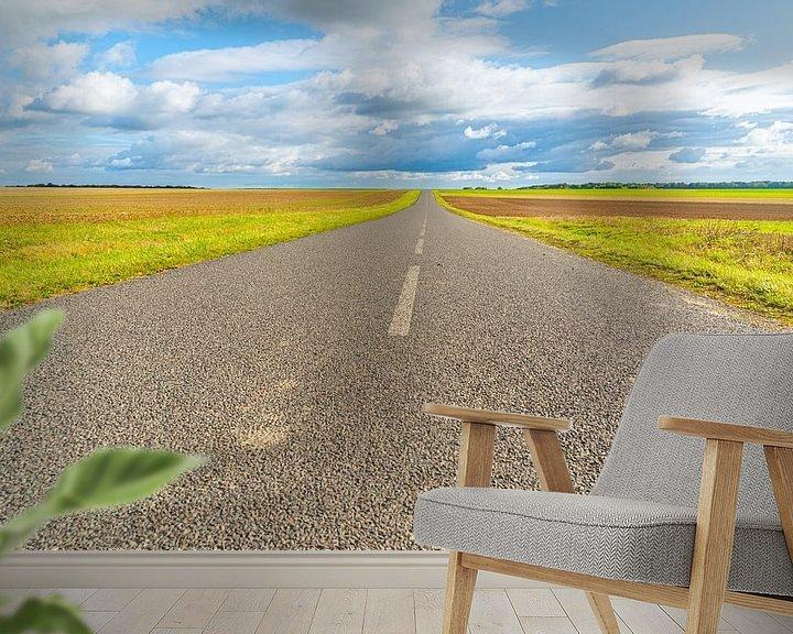 Beispiel fototapete: Verlassene Straße in der französischen Region Champagne von Ivo de Rooij