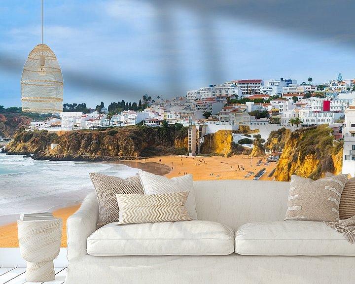 Beispiel fototapete: Der Strand von Albufeira an der Algarve in Portugal von Ivo de Rooij