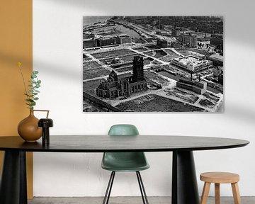 A457 Rotterdam Zentrum 1947 Binnenrotte mit Luftbahn, Delftsevaart, Steigersgracht, Blaak, Leuve-hav von Roel Dijkstra