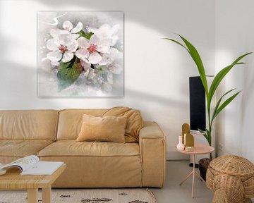 witte bloei van Andreas Wemmje