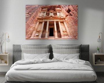 Treasury Al-Khazneh, Petra, UNESCO-Weltkulturerbe, Wadi Musa Mousa, Jordanien, Naher Osten von WorldWidePhotoWeb