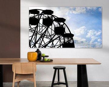 Riesenrad (Silhouette) in Barcelona, Spanien von Jessica Lokker