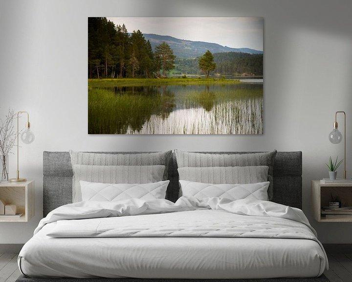 Sfeerimpressie: Bos en  aan de rand van het meer van Karijn   Fine art Natuur en Reis Fotografie