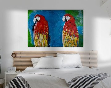 Zwei Papageien von Susanne A. Pasquay