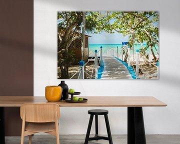 Magische strand aan de Caraïbische Zee van Art Shop West