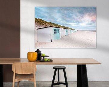 Strandhuisjes van P Kuipers