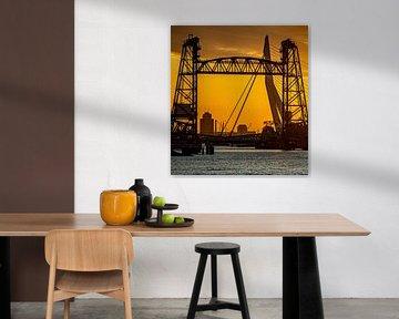 Zonsondergang in Rotterdam (1) van Klaus Lucas