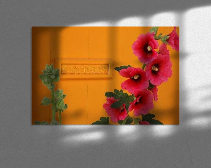 Sfeerimpressie: Post / stokroos van Margo Schoote