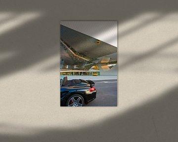 Porsche 911 vor Porsche Museum in Stuttgart von Werner Dieterich