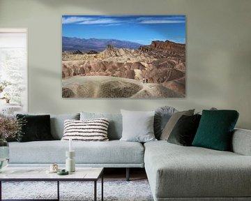 Le paysage lunaire de la Vallée de la Mort, États-Unis sur Wouter van der Ent