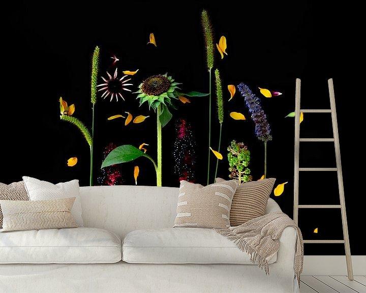 Beispiel fototapete: Blumenporträt (Sonnenblume) von Ineke VJ