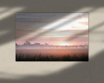 Mistige zonsopkomst Elst van Nicky Kapel