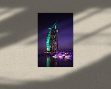 Dubai bei Nacht von Jürgen Wiesler