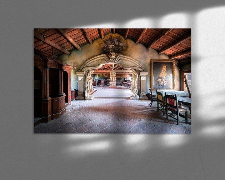 Beispiel: Verlassenes Restaurant mit Kunst. von Roman Robroek