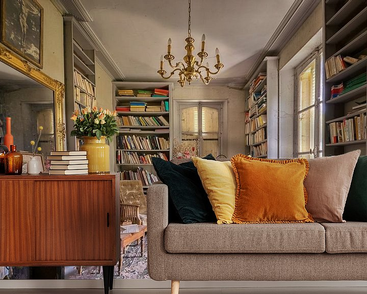 Beispiel fototapete: Lost Place - das Bücherzimmer von Linda Lu