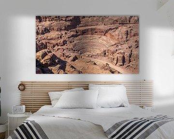 Amphitheater in der Altstadt von Petra, Jordanien von Jessica Lokker