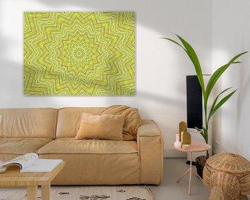 Star in Green (Ster in  Lentegroen) van Caroline Lichthart