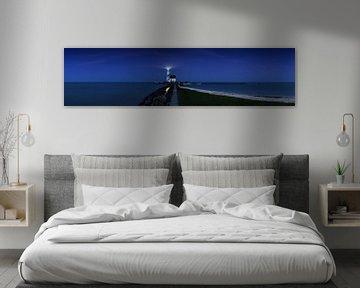 Paard van Marken zur blauen Stunde - Panorama