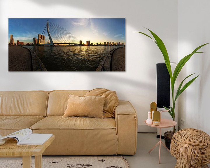 Impression: Rotterdam à l'horizon avec le pont Erasmus sur Frank Herrmann