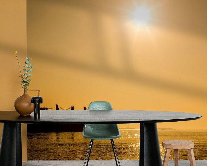 Impression: Pétrolier - Silhouette au coucher du soleil sur Frank Herrmann