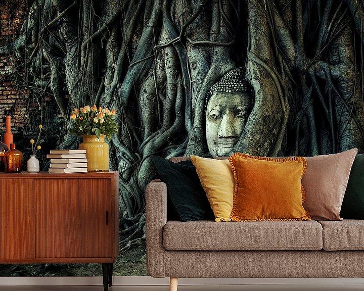 Sfeerimpressie behang: Wat Mahathat van Manjik Pictures