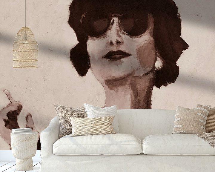 Impression: Portrait en noir et blanc sur Mieke Daenen