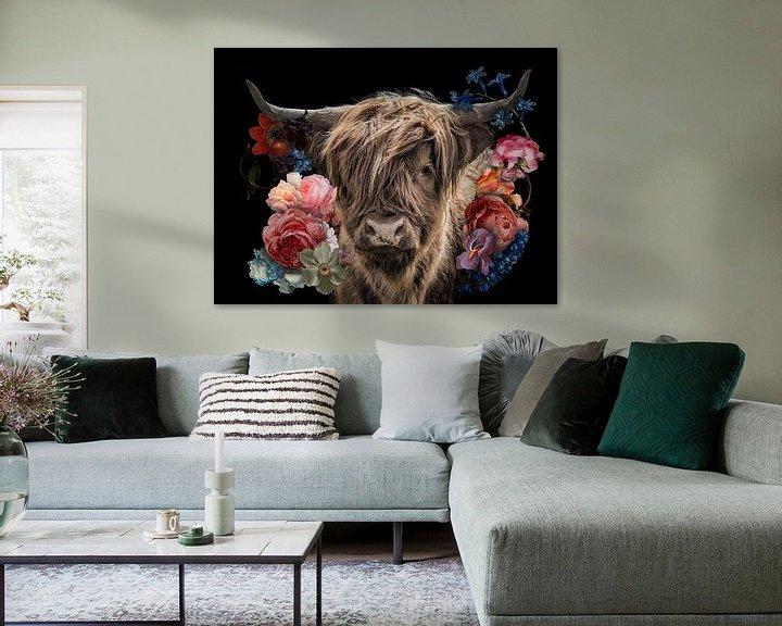Sfeerimpressie: Schotse Hooglander in de bloemetjes van John van den Heuvel