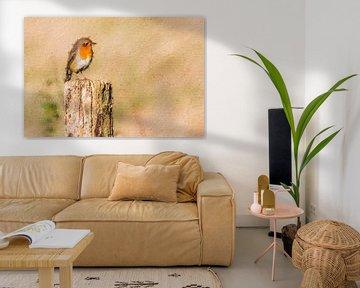 Robin schaut nach links (Gemälde) von Art by Jeronimo