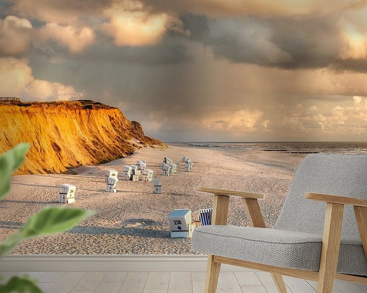 Beispiel fototapete: Rotes Kliff mit Wolken von Dirk Thoms