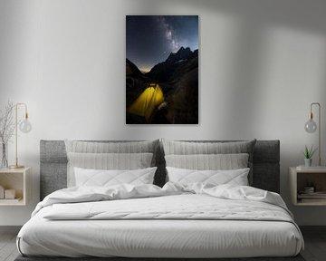 Slapen onder de sterrenhemel in de Franse Alpen