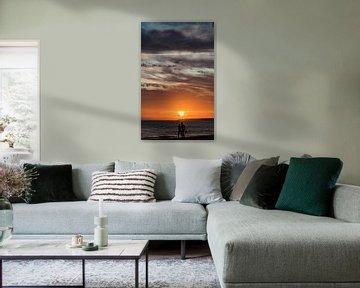 Zonsondergang van Anita van Gendt