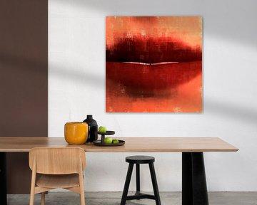 Abstrakte rote Lippen von Maurice Dawson