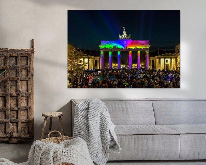 Sfeerimpressie: Berlijn Skyline aan de Brandenburger Tor van Frank Herrmann