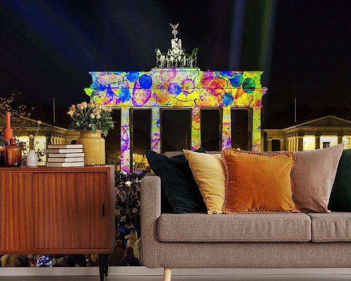 Sfeerimpressie behang: Brandenburger Tor in een bijzonder licht van Frank Herrmann