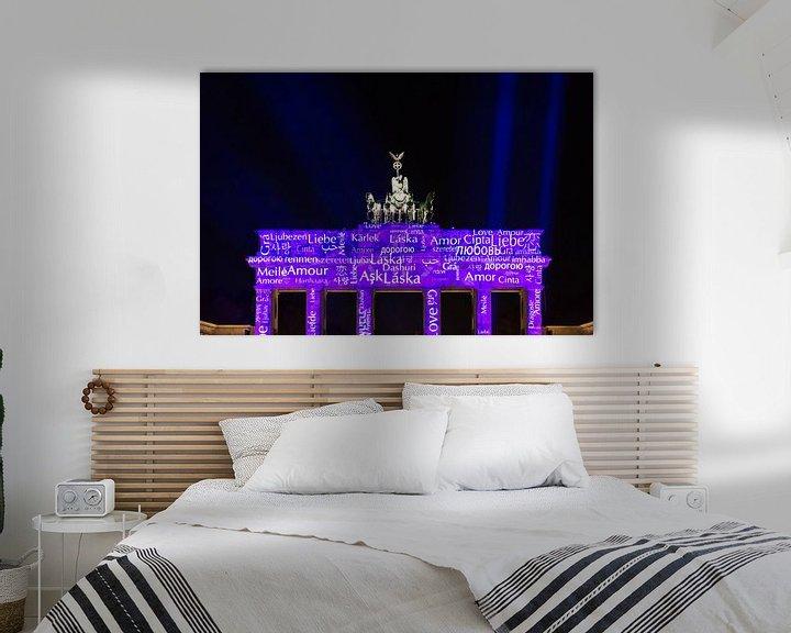 Sfeerimpressie: Brandenburger Tor in een bijzonder licht van Frank Herrmann