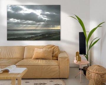 Zonnestralen bij Zeeuwse Dijk van Marcel Nauta
