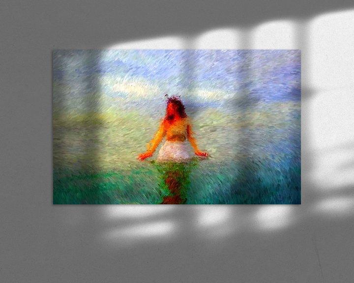 Sfeerimpressie: Vrouw in de oceaan van Maurice Dawson