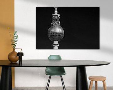 Berliner Fernsehturm bei Nacht von Frank Herrmann
