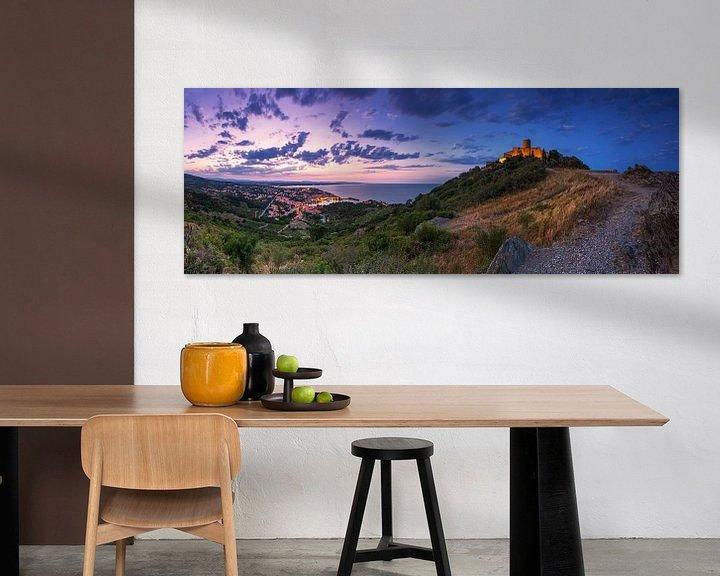 Impression: Panorama de Collioure au coucher du soleil sur Frank Herrmann