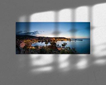 Collioure Panorama op het blauwe uur