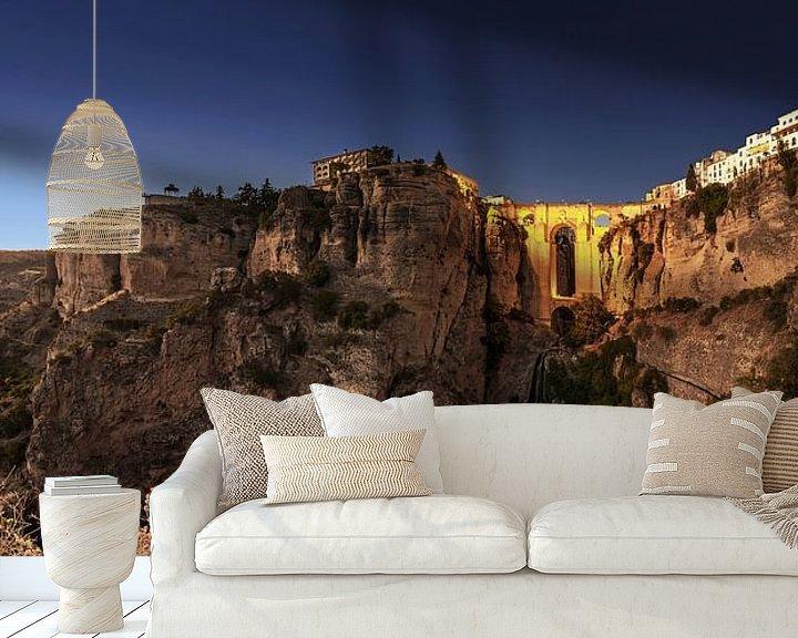 Sfeerimpressie behang: Ronda Panorama van Frank Herrmann