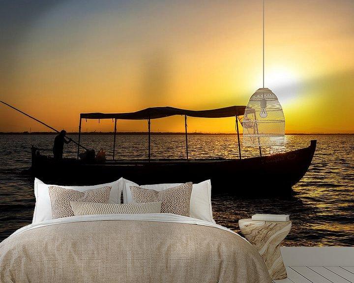 Impression: Bateau de pêche au coucher du soleil sur Frank Herrmann