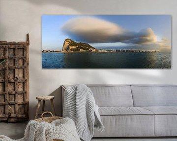 Gibraltar Panorama mit Riesenwolke